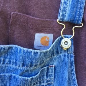 Carhartt Pocket Tee VTG Denim Overall Dress